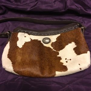 American West leather shoulder bag brown cowhide